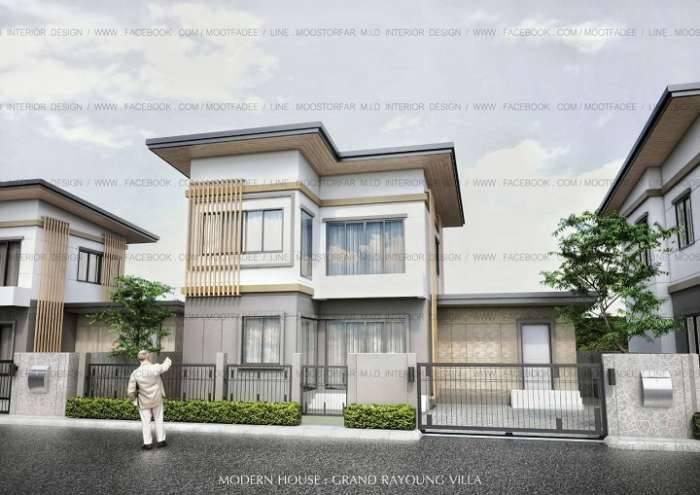 ขายบ้านเดี่ยว 2 ชั้น บ้านหลังใหญ่  แกรนด์ระยองวิลล่า PMY เมืองระยอง