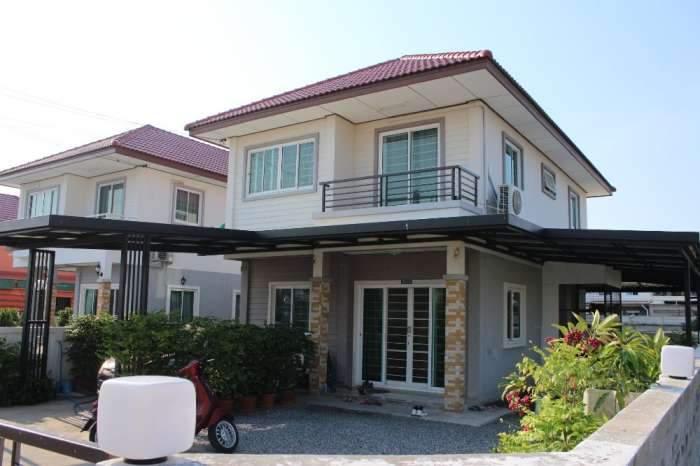 ขายบ้านเดี่ยวหมู่บ้านทรัพย์สมบูรณ์ สุขเจริญ 2 ประชาอุทิศ-คู่สร้าง สุขสวัสดิ์ 61.5 ตร.ว. 2 ชั้น 4 นอน 2 น้ำ สภาพดี